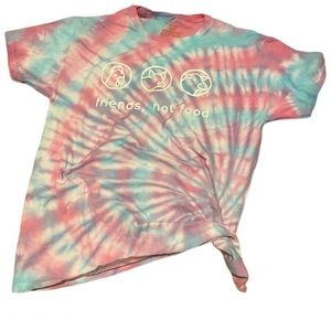 Tie dye vegan graphic tee shirt medium
